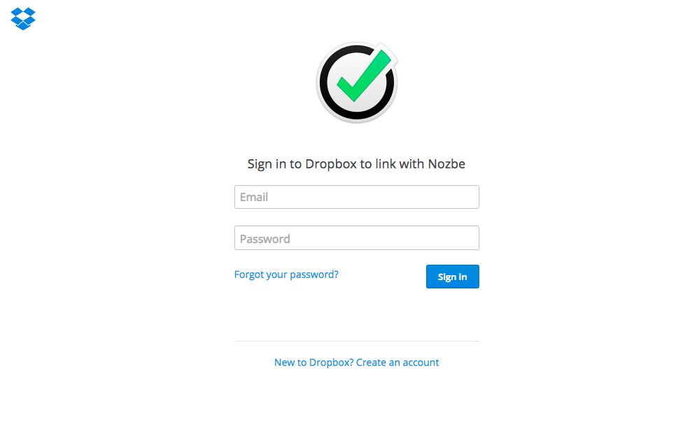 Dropbox Authorization