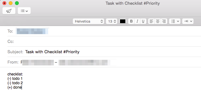 email tasks nozbe help