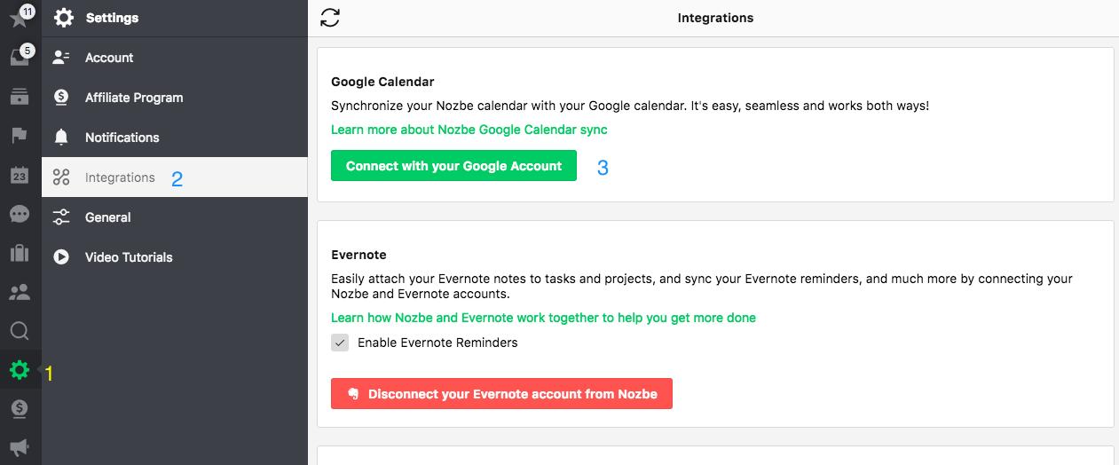 Google Calendar :: Nozbe Help
